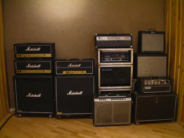 Studio E - 001 - back line Amplis